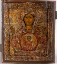 A Russian Icon Of Sign Of Mother Of God, 19th