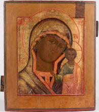 A Russian Icon Of Kazan Mother Of God