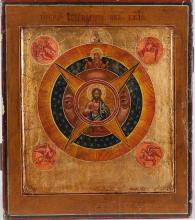 A Russian Icon Of All-Seeing Eye Of God, 19th