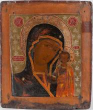 A Russian Icon Of Kazan Mother Of God, 18th c.