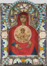 A Russian Icon of Tambov Mother Of God, 17-18th C.