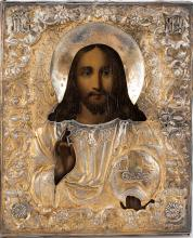 A Russian Icon Jesus Christ Pantocrator