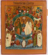 A Russian Icon of The Trinity, 19th C.