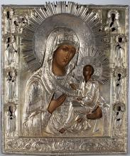A Russian Icon Of Tikhvin Mother Of God, 19th c.