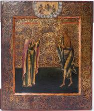 A Russian Icon Akilina And Maria Of Egypt, Mstera