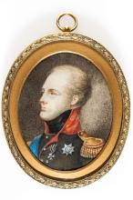 A Miniature Portrait Of Alexander I, early 19th c.