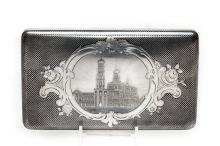 A Large Russian Silver & Niello Cigarette Case, 1861