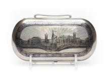 A Russian Silver & Niello Cigarette Case, 1868