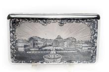 A Russian Silver & Niello Cigarette Case, 1863