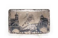 A Russian Silver & Niello Cigarette Case, 1832