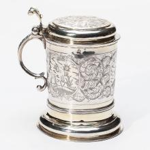 A Russian Silver-Gilt Tankard, 18th Century