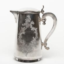 A Russian Silver Coffee Pot, 19th C.