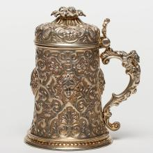 An European Silver-Gilt Tankard, 19th C.