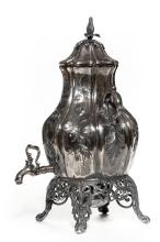 An English Silver Plated Urn