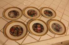 Royal Copenhagen Hans Christian Anderson Plates comprising six in total. comprising six in total.