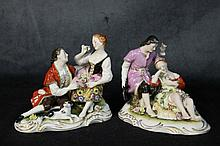 A pair of porcelain figures of the romantic couples. Height