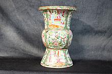 A fine Chinese 19th century porcelain vase with floral and f