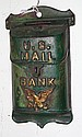 Cast Iron US Mail Bank 5