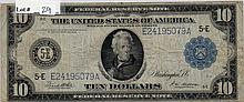 $10 Bill- 1914 Series. Signed White And Mellon.