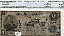$5 Bill- 1902 Series. Signed Lyons And Roberts.