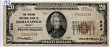 Series Of 1929 $20 National Bank Note, Brown