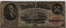 $2 Bill - 1917 Series. Signed Teehee And Burke.