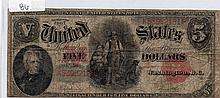 $5 Bill- 1907 Series. Signed Speelman And White.