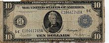 $10 Federal Reserve Note- 1914 Series Blue Seal