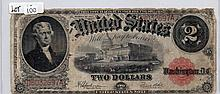 $2 Bill-1917 Series. Signed Speelman And White.