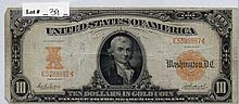 $10 Bill- 1907 Series. Gold Certificate. Signed
