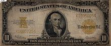 $10 Bill- 1922 Series. Gold Certificate. Signed