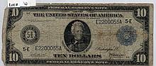 $10 Federal Reserve Note-1914 Series, Blue Seal