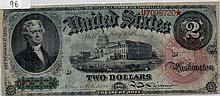$2 Bill- 1869 Series. Signed Allison And Spinner.