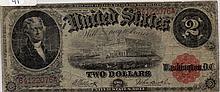 $2 Bill- 1917 Series. Signed Elliott And Burke.
