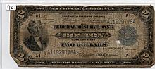 $2 Bill- 1918 Series. Signed Elliott And Burke.