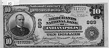 $10 National Currency- 1902 Series Blue Seal
