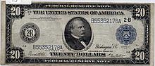 $20 Bill- 1914 Series. Signed White And Mellon.