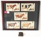 Complete set DeLaval paper cows and calves in frame- all un-punched and DeLaval paper clip