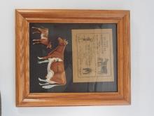 Tin DeLaval Guernsey cow & calf