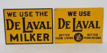 (2) DeLaval sign