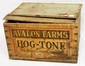 Wooden Avalon Farms Hog Tone box full of bottles