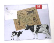 Tin Die-Cut DeLaval Holstein Cow & Calf Set with Envelope