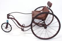 Child's Velocipede Bike with Replaced Seat