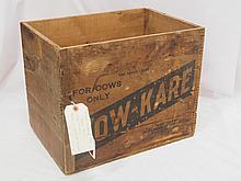 Wooden Kow Kare shipping box