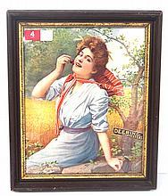 1902 Framed Deering Harvestors calendar top