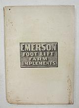 Emerson Foot Lift Farm Implements Catalog