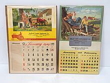 (2) Massey Harris calendars