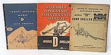 (3) Minneapolis Moline Model D Corn Sheller manuals