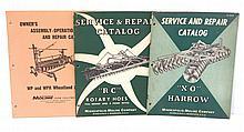 (3) Minneapolis Moline repair catalogs