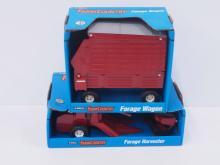 Forage Harvester & Hesston Forage Wagon